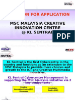 MSC Malaysia Creative Innovation Centre Incubation Center @ KL Sentral