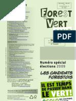 """Forest & Vert 30, """"spécial élections 2009"""""""