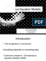Simultaneous Equation Models
