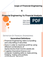 Meaning and Scope of Financial Engineering and Financial Engineering vs Financial Analysis