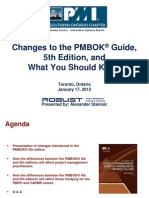 Changes to the PMBOK® Guide, 5th Edition,