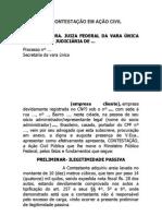 MODELO DE CONTESTAÇÃO EM AÇÃO CIVIL PÚBLICA
