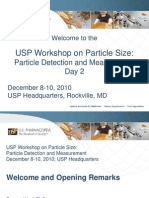 USP Workshop on Particle Size