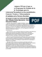 ACUERDO número 593 por el que se establecen los Programas de Estudio de la asignatura de Tecnolog