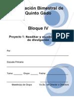 5to Grado - Bloque 4 - Proyecto 1