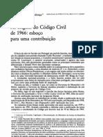 A origem do Código Civil de 1966