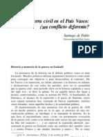 S. de Pablo La Guerra Civil en El Pais Vasco