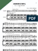 Bizet - Chanson d'Avril
