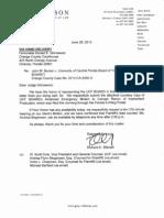 UCF Becker - 2013-06-26 - Letter to Judge