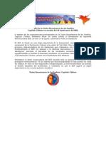 Saludo de la Unión Bicentenaria de los Pueblos al 48° Aniversario del MIR