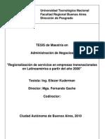 Regionalizacion de Servicios en Empresas Trasnacionales en l