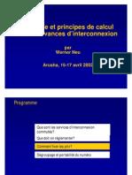 méthode et principes de calcul des redevances d'interconnexion