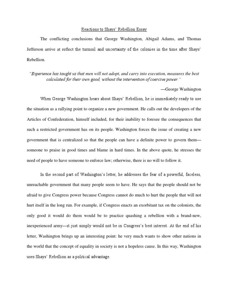 Shays's Rebellion essays