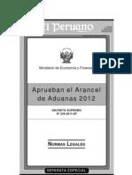 ARANCELES 2012