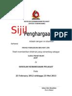 Sijil Guru Praktikum 2013