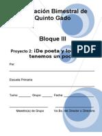5to Grado - Bloque 3 - Proyecto 2