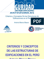Criterios y Conceptos De las Estructuras de Edificaciones en el Perú