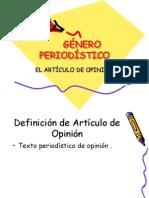 GÉNERO PERIODÍSTICO  DE OPINIÓN