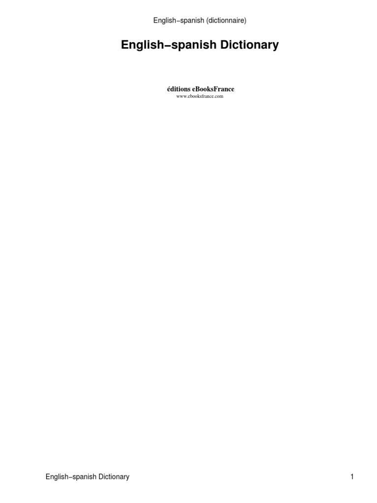 Anon - Diccionario Ingles Español