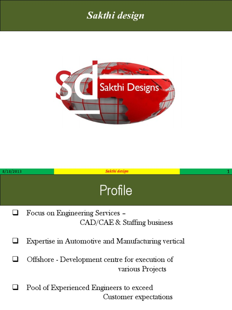 sakthi design profile computer aided design engineering