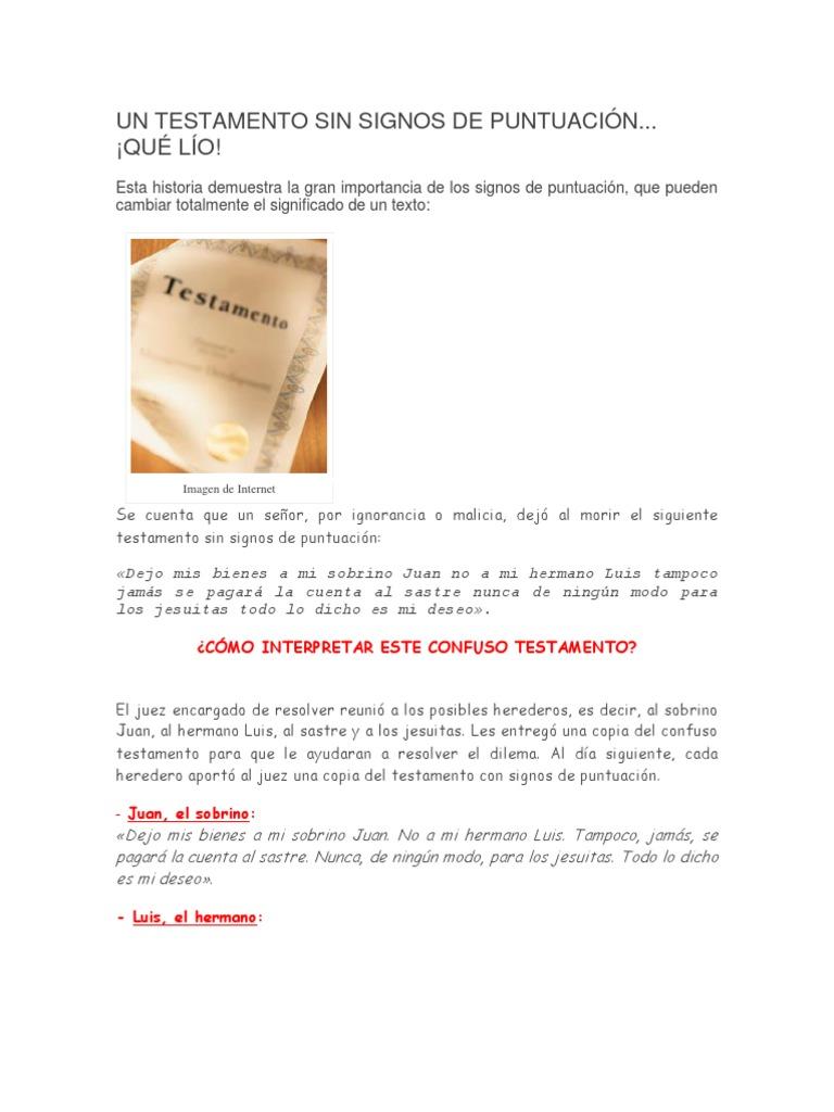 UN TESTAMENTO SIN SIGNOS DE PUNTUACIÓN.docx