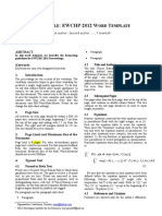 EWCHP 2012 - Paper Template