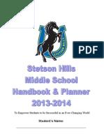 middle school handbook 2013-2014