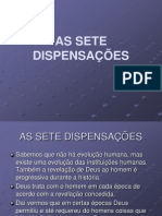 AS SETE DISPENSAÇÕES