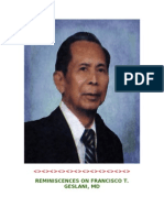 REMINISCENCES ON FRANCISCO T. GESLANI, MD