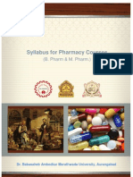 BAMU Revised B Pharm M Pharm Syllabus 2013