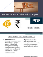 De-Valuation of the Indian Rupee