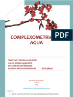 Complexometria Del Agua