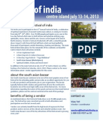 2013 Vendor Info Pkg Island