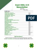 east hills 4-h newsletter april 2013 online edition