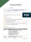 Develop Your Media Kit - GrowthPanel.com