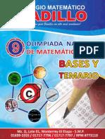 Bases y Temario 9na Olimpiada 2013
