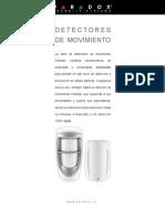 Catalogo de Detectores de Movimiento PARADOX