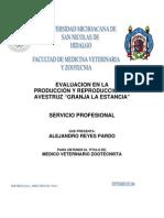 Evaluacion en La Produccion y Reproduccion de Avestruz Granja La Estancia