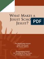What Makes a Jesuit School Jesuit
