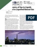 Economics of GTL and LNG