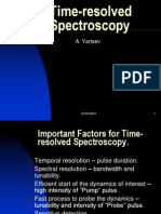 Time-resolved Spectroscopy