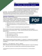 102 Evaluating Membrane Supplier