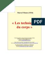 MAUSS, Marcel. Techniques Du Corps