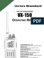 Yaesu VX-150 Users Manual