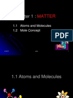 MATTER (1.1 Atoms and Molecules)2