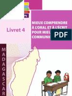 Madagascar Livret 4 Mieux Comprendre Oral Ecrit