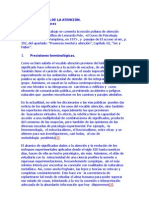 FENOMENOLOGÍA DE LA ATENCIÓN