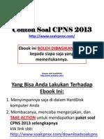 Contoh Soal CPNS 2013 v1