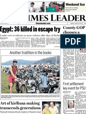 Times Leader 08-19-2013 | Driving Under The Influence | Syria