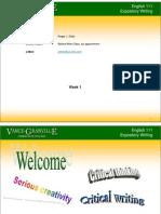 English 111 - Week 1_Student Notes_2012